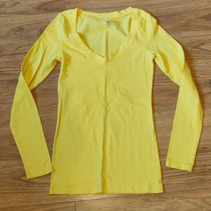 NWOT yellow long sleeve shirt